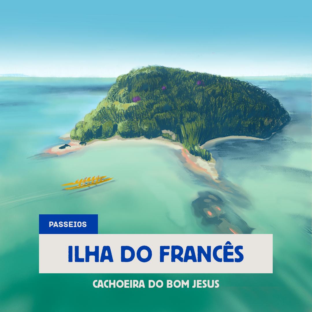 Ilha do Francês - Cachoeira do Bom Jesus